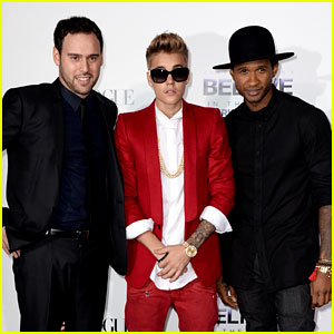 Justin Bieber: 'Believe' Premiere with Usher & Scooter Braun!