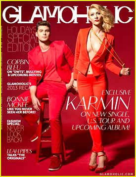 Karmin Go Holiday Chic for 'Glamoholic' Holiday Issue