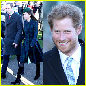 Kate Middleton & Prince William: Christmas Day Service with Prince Harry!