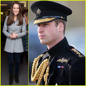 Kate Middleton Visits Children's Hospice, Prince William Awards Medals