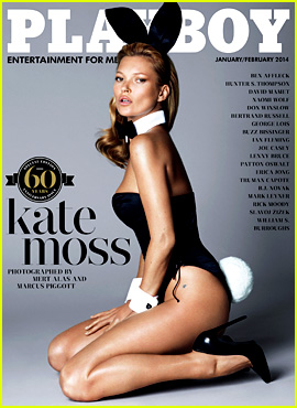 Kate Moss Covers 'Playboy' 60th Anniversary Issue