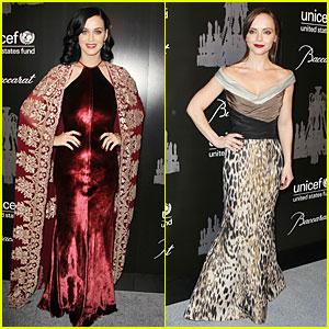 Katy Perry & Christina Ricci: UNICEF Snowflake Ball 2013!
