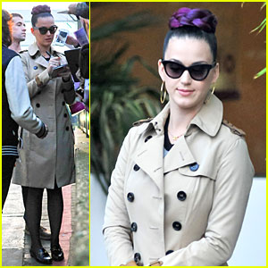 Katy Perry Rocks Purple Hair Braids For ITV Studios!