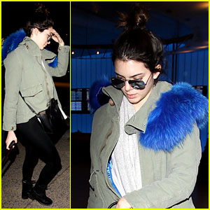 Kendall Jenner Flies Back Home After Weekend with Harry Styles