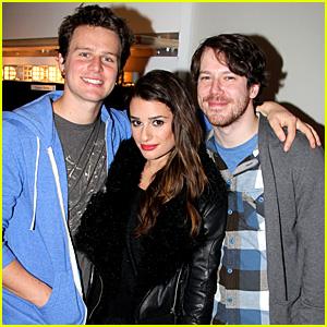 Lea Michele & Jonathan Groff: 'Spring Awakening' Cast Reunion!