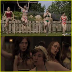 Lena Dunham & 'Girls' Co-Stars Rock Swimwear for 'Girls' Trailer - Watch Now!