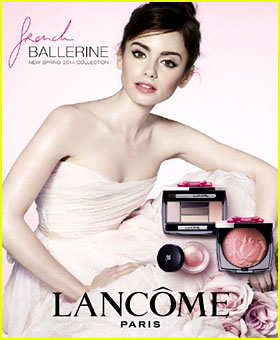Lily Collins is a Beautiful Ballerina for 'Lancome' Ad Campaign!