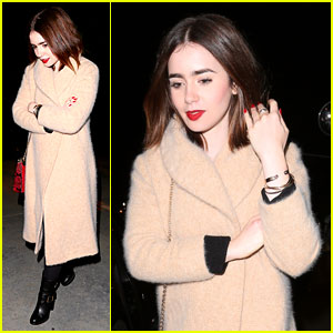 Lily Collins: Jennifer Klein's Holiday Party!