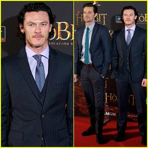 Luke Evans: 'Hobbit' Madrid Premiere with Richard Armitage!