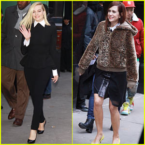 Margot Robbie & Kristen Wiig: 'Good Morning America' Gals!