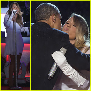 Mariah Carey: National Christmas Tree Lighting with the Obamas!