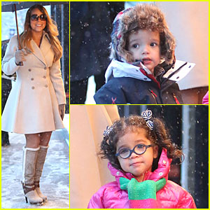 Mariah Carey: Snowy Aspen Shopping with the Twins!