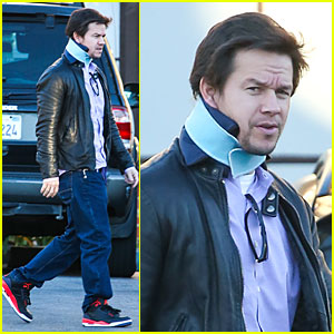 Mark Wahlberg Wears Neck Brace For Mall Shopping Trip