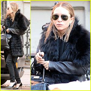 Mary-Kate Olsen Sports Ring on Left Ring Finger!