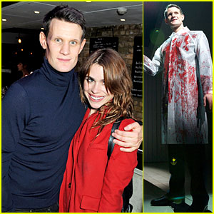 Doctor Who's Matt Smith & Billie Piper Reunite at 'American Psycho' Opening