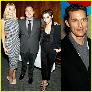 Matthew McConaughey: 'Wolf of Wall Street' Luncheon with Margot Robbie!