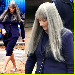 Meryl Streep Wears Long Gray Wig for 'The Giver'