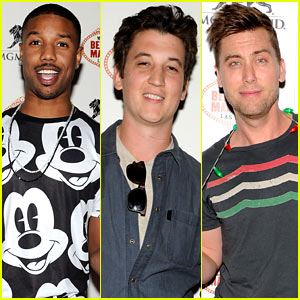 Michael B. Jordan & Miles Teller: Beacher's Madhouse Vegas Celebration!