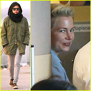 Michelle Williams Departs LAX For Cold NYC!