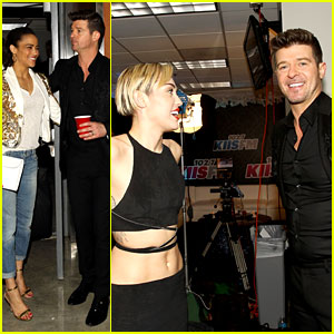 Miley Cyrus & Robin Thicke Reunite at KIIS-FM Jingle Ball 2013
