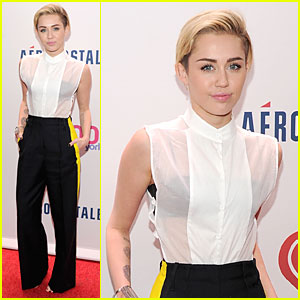 Miley Cyrus: Sheer Top at Z100's Jingle Ball!