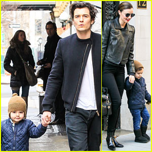 Miranda Kerr Drops Off Flynn with Daddy Orlando Bloom!