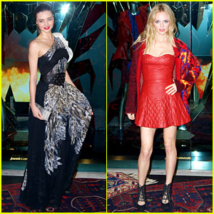 Miranda Kerr & Heather Graham: Just Cavalli Store Opening!