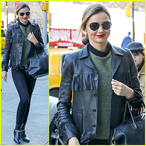 Miranda Kerr Thanks Qantas Airways for Trenchcoat!