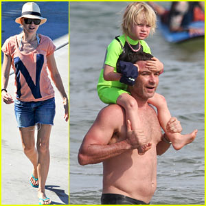 Liev Schreiber Swims Shirtless, Naomi Watts Sunbathes in Sydney!