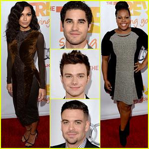Naya Rivera & 'Glee' Cast - TrevorLIVE LA 2013