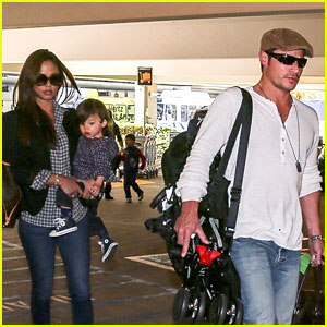 Nick Lachey & Wife Vanessa: LAX Arrival with Son Camden!