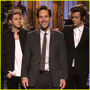 One Direction: 'Saturday Night Live' Opening Monologue with Paul Rudd! (Videos)