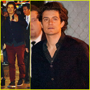 Orlando Bloom Promotes 'The Hobbit' on 'Jimmy Kimmel Live'!
