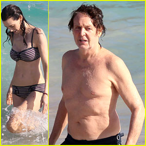 Paul McCartney Shirtless Vacation With Wife Nancy Shevell
