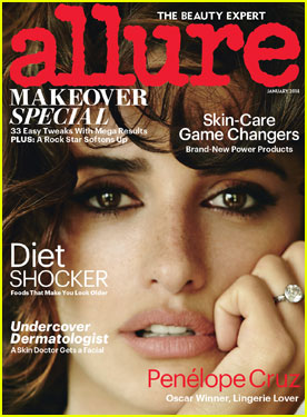 Penelope Cruz Covers 'Allure' Magazine January 2014