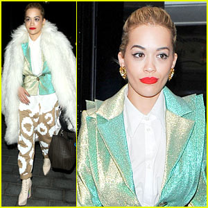 Rita Ora Enjoys Dinner While Home in London After US Trip