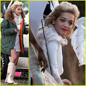 Rita Ora Gets to Work for Pre-Christmas Photo Shoot