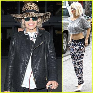 Rita Ora: London Arrival After Miami Midriff Baring Shoot!