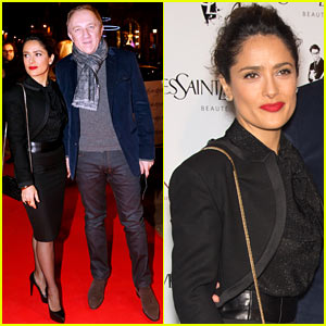 Salma Hayek: 'Yves Saint Laurent' Paris Premiere!