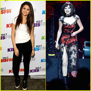 Selena Gomez Goes Gothic Chic for KIIS-FM Jingle Ball 2013