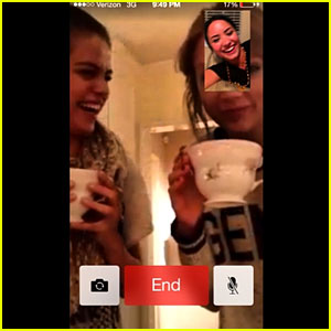 Selena Gomez & Taylor Swift Facetime with Demi Lovato!