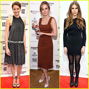 Shailene Woodley & Brie Larson: Gotham Film Awards!