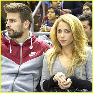 Shakira & Gerard Pique: Courtside at Barcelona Basketball Game!