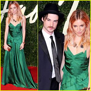 Sienna Miller & Tom Sturridge - British Fashion Awards 2013