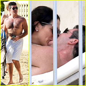 Simon Cowell & Lauren Silverman: Kissing & Cuddling Pair!