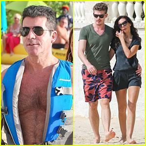 Simon Cowell: Shirtless Holiday Vacation with Terri Seymour!