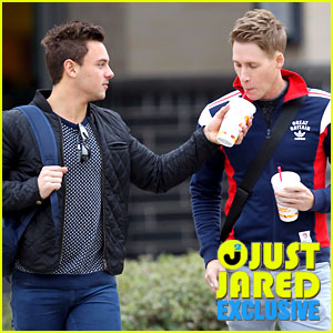 Olympic Diver Tom Daley & Dustin Lance Black: First Couple Photos! (Exclusive)