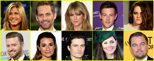 Just Jared's 50 Most Popular Celebs 2013