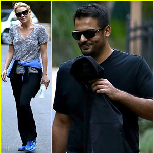 Walking Dead's Laurie Holden Hikes with Mystery Male
