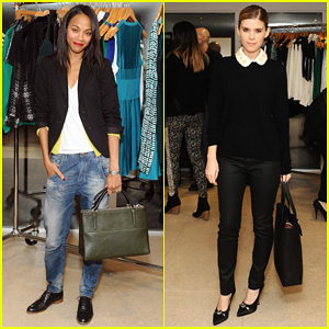 Zoe Saldana & Kate Mara: A Parker Party!